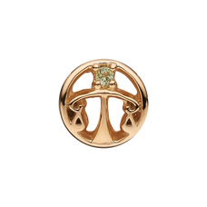 Load image into Gallery viewer, Zodiac Libra Bead Charm Gold with Gemstones