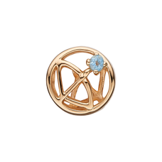 Load image into Gallery viewer, Zodiac Sagittarius Bead Charm Gold with Gemstones