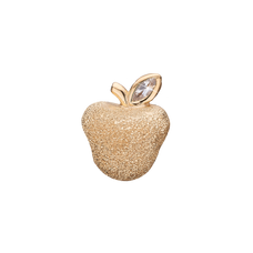 Load image into Gallery viewer, Sparkling Apple Bead Charm Gold with Gemstones