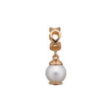 Load image into Gallery viewer, Moving Pearl Hanging Charm Gold with Gemstones