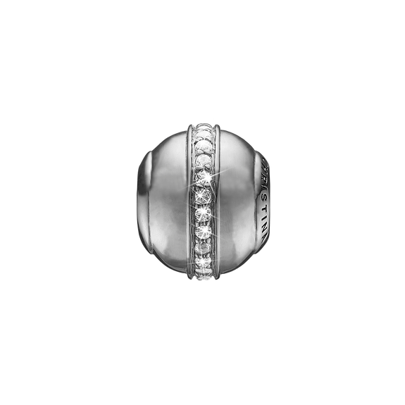 Topaz Magic Bead Charm Silver with Gemstones