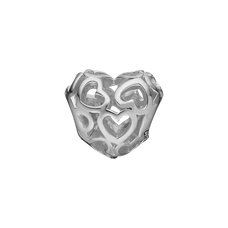 Load image into Gallery viewer, Petite Heart Beat Love Bead Charm Silver