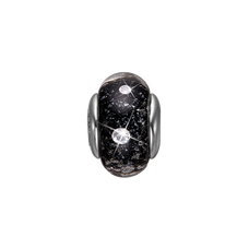 Load image into Gallery viewer, Black Topaz Murano Glass Silver with Gemstones