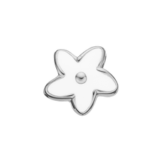 Load image into Gallery viewer, Flower Heaven Bead Charm Silver and White