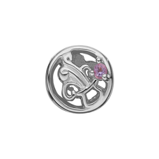 Load image into Gallery viewer, Zodiac Aquarius Bead Charm Silver with Gemstones
