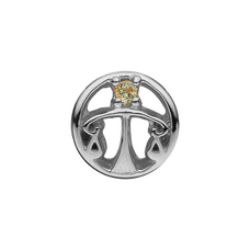 Load image into Gallery viewer, Zodiac Libra Bead Charm Silver with Gemstones