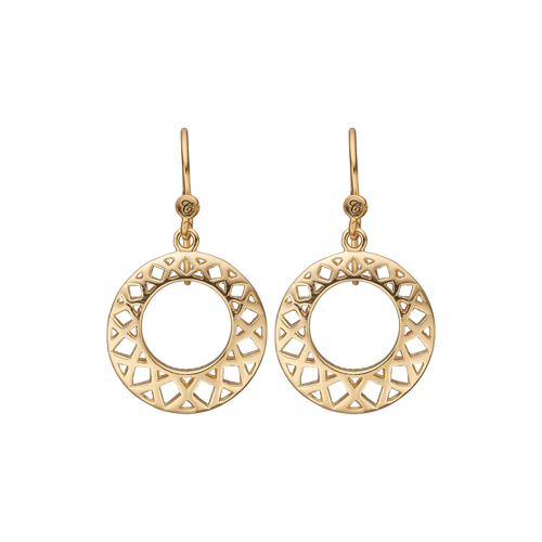 Circles of Happiness Hanging Earrings Gold