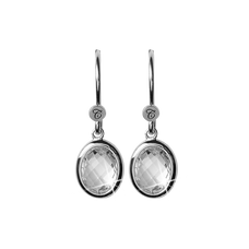 Load image into Gallery viewer, Crystal Dream Hanging Earrings Silver with Gemstones