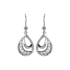 Load image into Gallery viewer, Beauty Hanging Earrings Silver with Gemstones