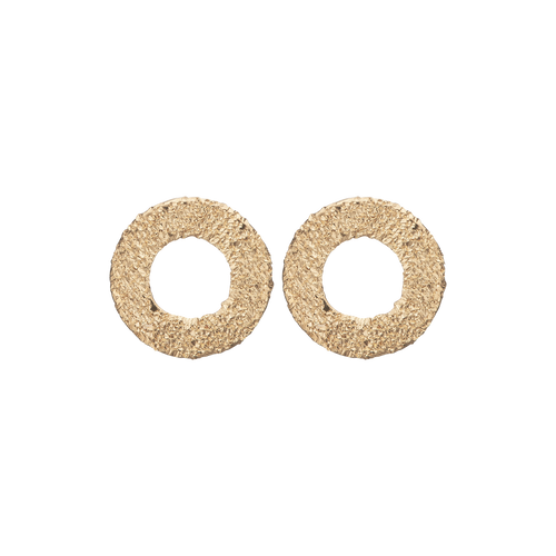 Sparkling Circles Studs Gold