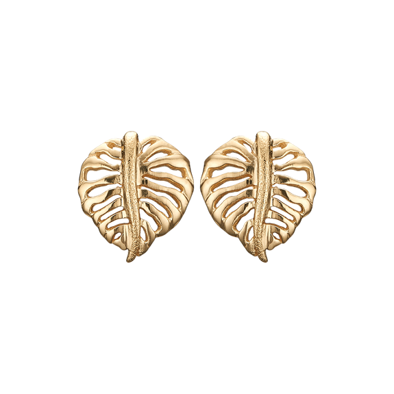 Sparkling Palm Studs Gold