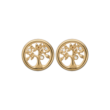 Load image into Gallery viewer, Tree Of Life Studs Gold with Gemstones