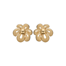 Load image into Gallery viewer, Happy Flower Studs Gold