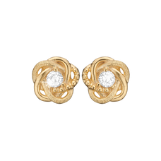 Load image into Gallery viewer, Knot Studs Gold with Gemstones
