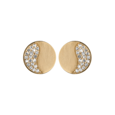 Load image into Gallery viewer, Moonlight Studs Gold with Gemstones