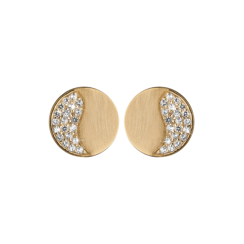 Moonlight Studs Gold with Gemstones