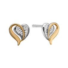Load image into Gallery viewer, Remind yourself of the beauty of love in everyday life whenever you put on your Leaf of Love Stud Earrings. For that special touch and to make your earrings even more special, all the earrings in our collection are delicately and expertly handcrafted in 925 Sterling Silver and finished in 18ct Gold or Rhodium Plating.