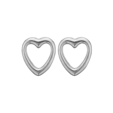 Load image into Gallery viewer, Open Hearts Studs Silver
