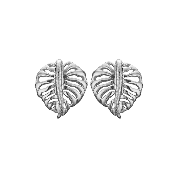 Sparkling Palm Studs Silver