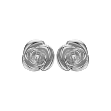 Load image into Gallery viewer, Roses Of Love Studs Silver with Gemstones