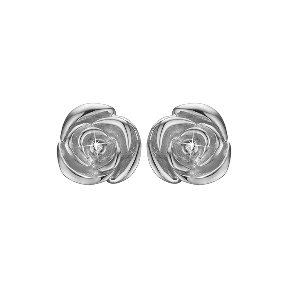 Roses Of Love Studs Silver with Gemstones