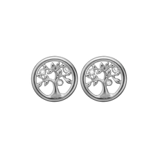 Load image into Gallery viewer, Tree Of Life Studs Silver with Gemstones