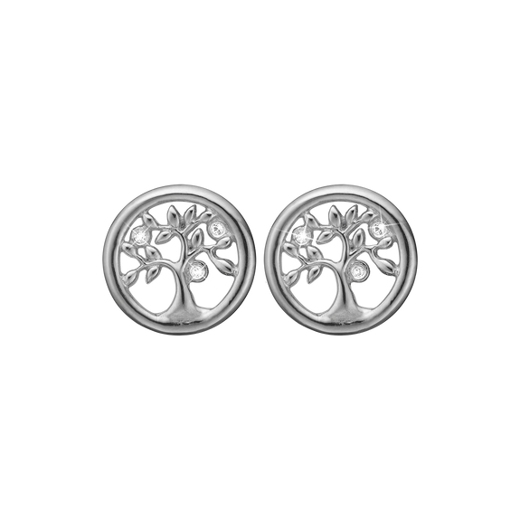 Tree Of Life Studs Silver with Gemstones