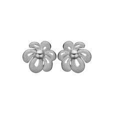 Load image into Gallery viewer, Happy Flower Studs Silver