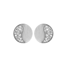 Load image into Gallery viewer, Moonlight Studs Silver with Gemstones