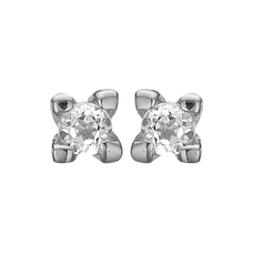 Load image into Gallery viewer, Diamond Studs Silver with Gemstones