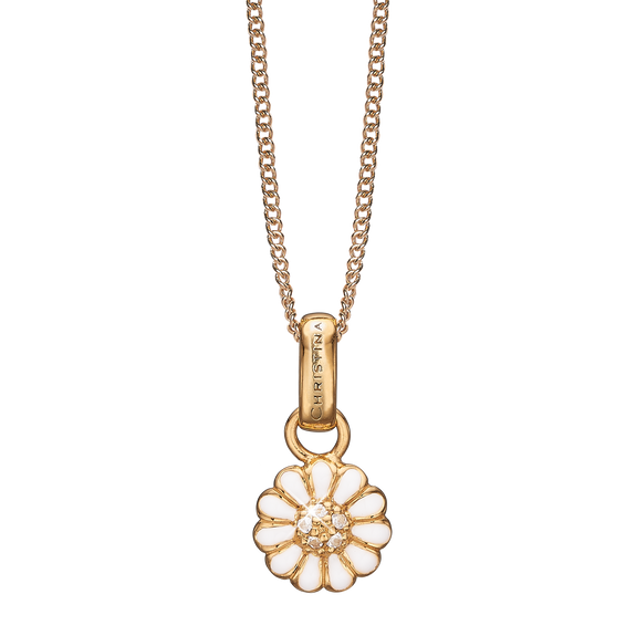 Petite  Marguerite Necklace Gold with Gemstones