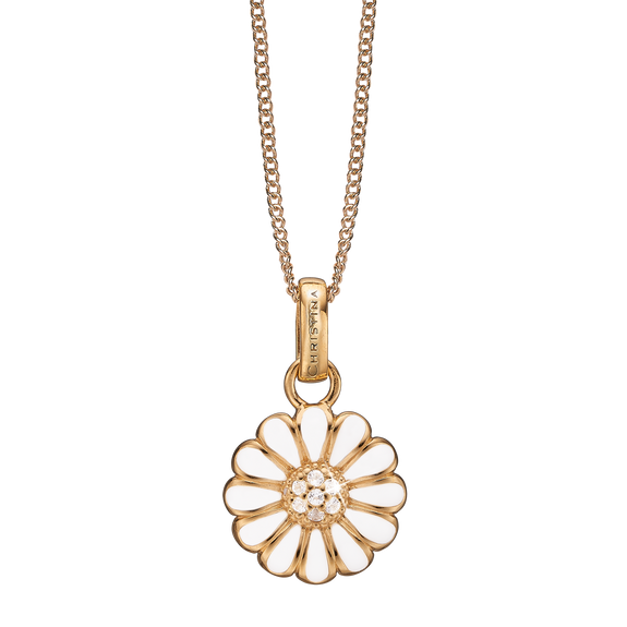 Marguerite Necklace Gold with Gemstones