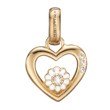 Load image into Gallery viewer, Marguerite Love Pendant Gold and White with Gemstones