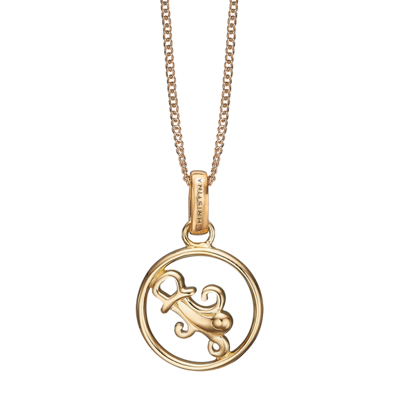 Zodiac Aquarius Necklace Gold