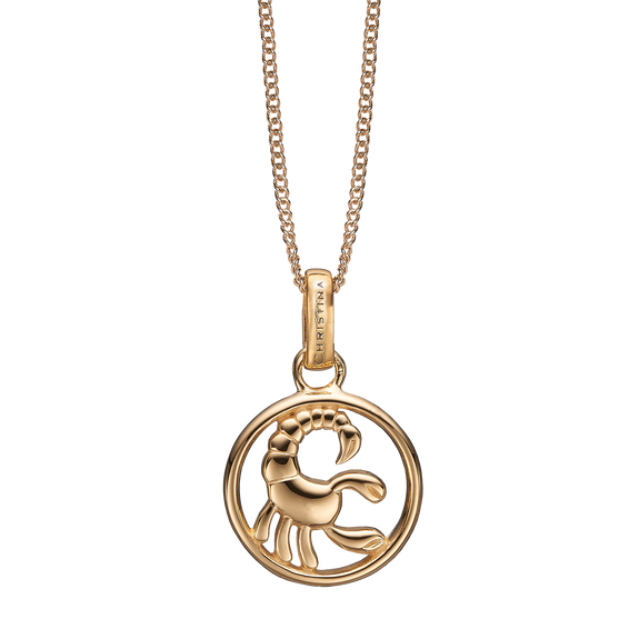 Zodiac Scorpio Necklace Gold