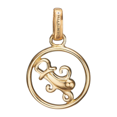 Load image into Gallery viewer, Zodiac Aquarius Pendant Gold
