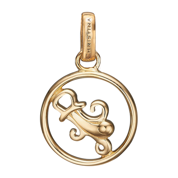 Zodiac Aquarius Pendant Gold