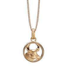 Load image into Gallery viewer, Zodiac Taurus Necklace Gold