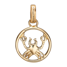 Load image into Gallery viewer, Zodiac Cancer Pendant Gold