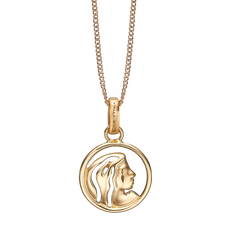 Load image into Gallery viewer, Zodiac Virgo Necklace Gold