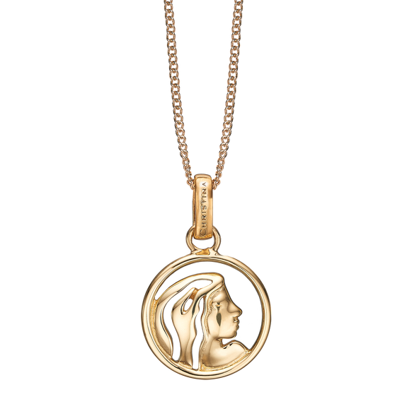 Zodiac Virgo Necklace Gold