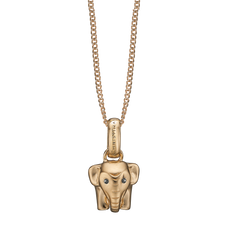 Load image into Gallery viewer, Lucky Elephant Necklace Gold with Gemstones