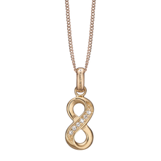 Load image into Gallery viewer, Eternity Necklace Gold with Gemstones