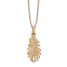 Load image into Gallery viewer, Pine Leaf Necklace Gold