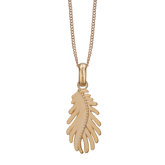 Pine Leaf Necklace Gold