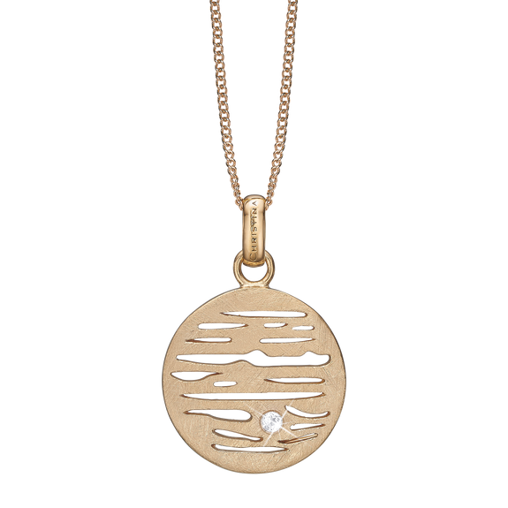 Jupiter Necklace Gold with Gemstones