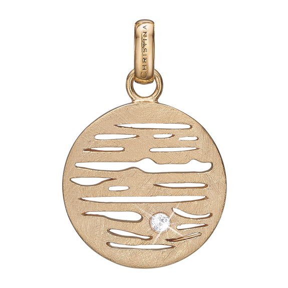 Jupiter Pendant Gold with Gemstones