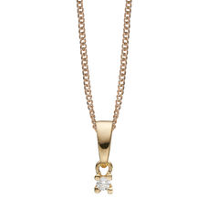 Load image into Gallery viewer, Small Diamond Pendant Necklace Gold with Gemstones