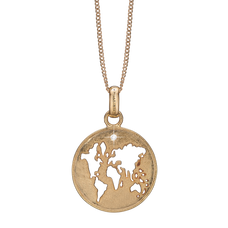 Load image into Gallery viewer, The World Necklace Gold with Gemstones