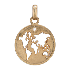 Load image into Gallery viewer, The World Pendant Gold with Gemstones